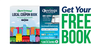 Get Your FREE SaveAround Coupon Book